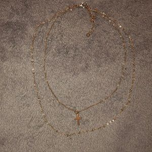 Jewelry - Gold two chain necklace